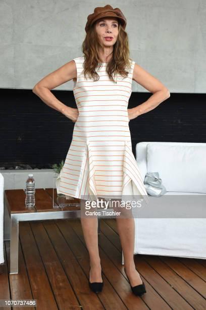 Spanish actress Victoria Abril poses for photos during a press conference to promote the VI Muestra de Cine Español e Iberoamericano at Habita Hotel...