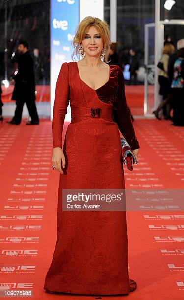 Spanish actress Victoria Vera arrives to the 2011 edition of the Goya Cinema Awards ceremony at Teatro Real on February 13 2011 in Madrid Spain