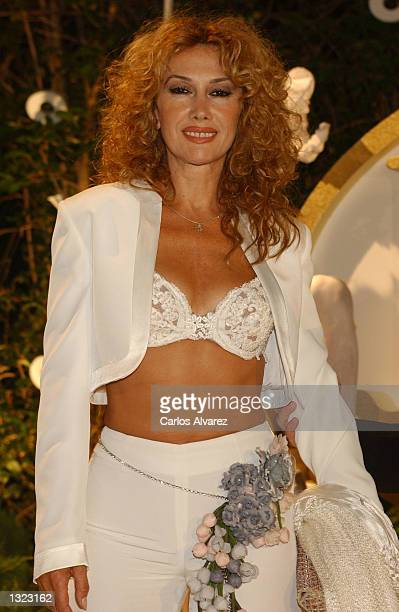 Spanish actress Victoria Vera attends a special dinner for the 20th anniversary of the disco Joy Eslava July 6 20001 in Aranjuez Madrid Spain