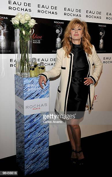 Spanish actress Victoria Vera attends Eau de Rochas 40th Anniversary party at the French Embassy on April 14 2010 in Madrid Spain