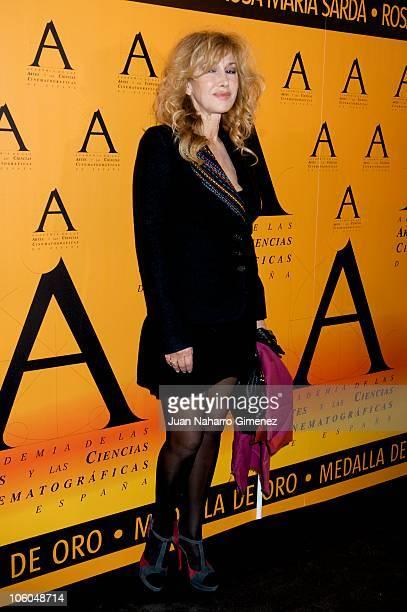 Spanish actress Victoria Vera attends 'Golden Medal Award 2010' Gala at Academia de Cine on October 25 2010 in Madrid Spain