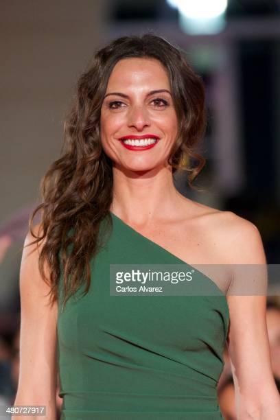 Spanish actress Virgina Munoz attends the Por un Punado de Besos premiere during the 17th Malaga Film Festival 2014 Day 6 at the Cervantes Theater on...