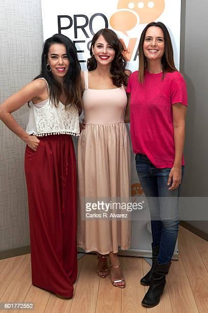 "Spanish actresses Beatriz Luengo , Andrea Duro and Eva Santolaria attend ""De Al Salir de Clase a Fisica o Quimica"" press conference at Palacio de..."