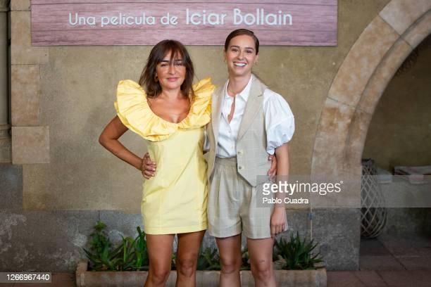 Spanish actresses Candela Peña and Paula Usero attend 'La Boda De Rosa' photocall on August 18, 2020 in Madrid, Spain.
