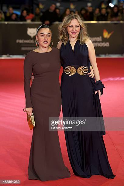 Spanish actresses Candela Pena and Pilar Castro attend the 'Feroz' cinema awards 2014 at the Callao cinema on January 27 2014 in Madrid Spain