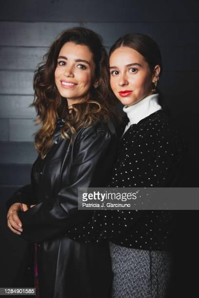 Spanish actresses Carol Rovira and Paula Usero pose during a portrait session at Cineteca before the presentation of 'Luimelia' ATRESplayer Premium...