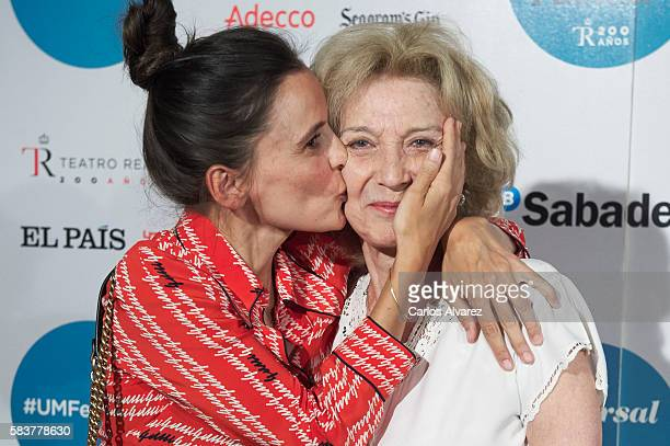 Spanish actresses Elena Anaya and Marisa Paredes attend Diana Krall concert photocall at Royal Theater on July 27 2016 in Madrid Spain