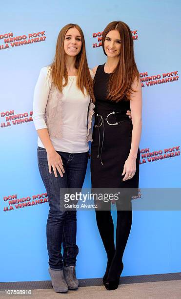 Spanish actresses Elena Furiase and Paz Vega attend Don Mendo Rock La Venganza at Fenix Hotel on December 14 2010 in Madrid Spain