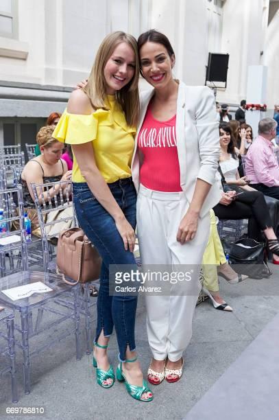 Spanish actresses Esmeralda Moya and Nerea Garmendia attend the Hannibal Laguna show during the Madrid Bridal Week 2017 at Palacio de Cibeles on...
