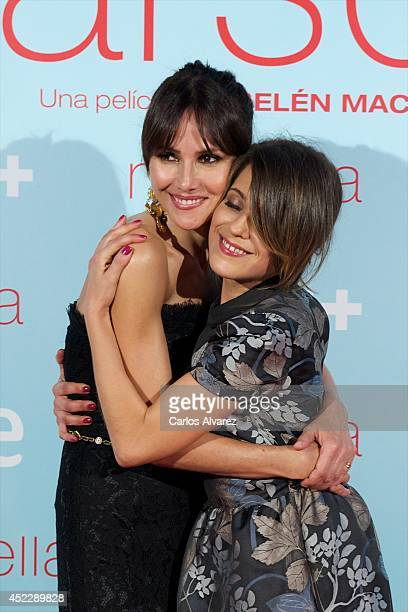 Spanish actresses Goya Toledo and Maria Leon attend the Marsella premiere at the Capitol cinema on July 17 2014 in Madrid Spain