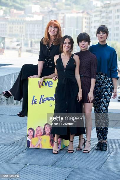 Spanish actresses Gracia Olayo Macarena Garcia Anna Castillo and Belen Cuesta attend 'La Llamada' photocall during the 65th San Sebastian...