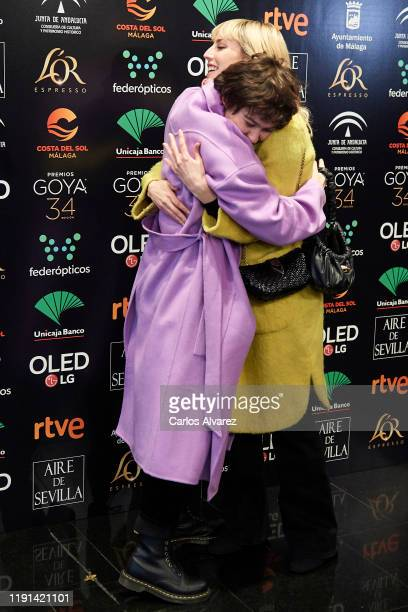 Spanish actresses Greta Fernandez and Natalia de Molina attend the 34rd edition Goya Candidates Lecture at Academia de Cine on December 02 2019 in...