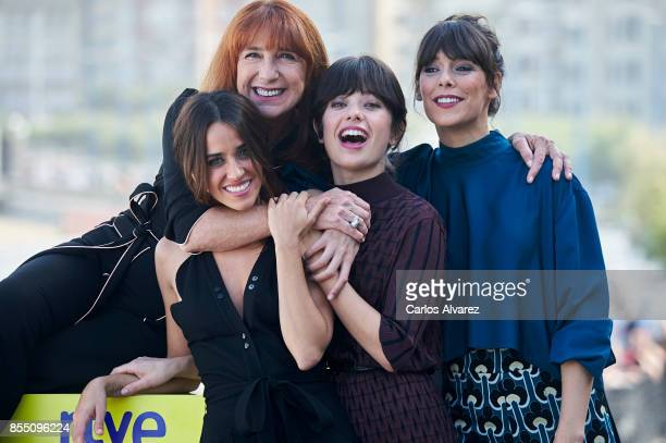 Spanish actresses Macarena Garcia Gracia Olayo Anna Castillo and Belen Cuesta attend 'La Llamada' photocall during the 65th San Sebastian...