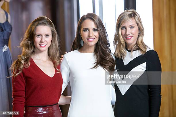 Spanish actresses Manuela Velles Paula Echevarria and Cecilia Freire pose during a photocall to present the 2nd season of 'Velvet' at A3 studios on...