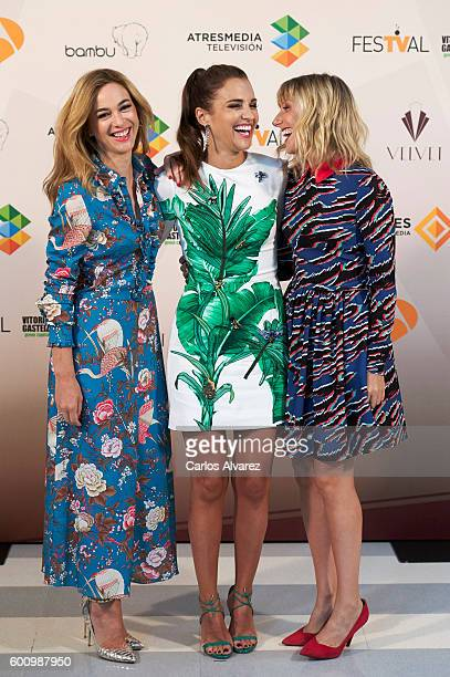 Spanish actresses Marta Hazas Paula Echevarria and Cecilia Freire attend 'Velvet' photocall at Palacio de Congresos during FesTVal 2016 Day 5 on...