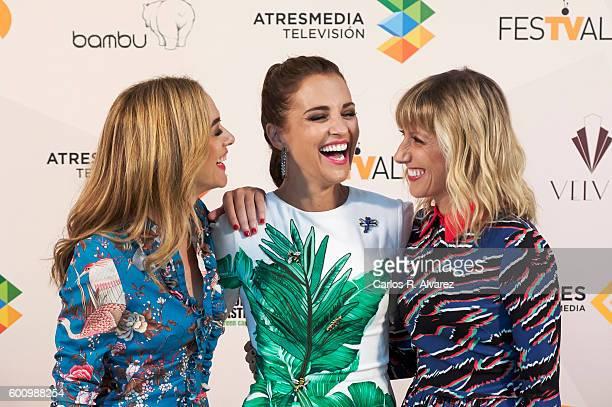 Spanish actresses Marta Hazas Paula Echevarria and Cecilia Freire attend Velvet photocall at Palacio de Congresos during FesTVal 2016 Day 5 on...