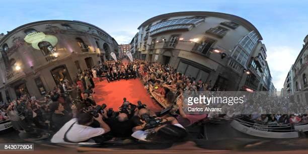 Spanish actresses Megan Montaner Paula Usero Lucia Diez Marta Torne Paula Echevarria Marta Hazas Monica Cruz Adriana Ozores and Andrea Duro attend...