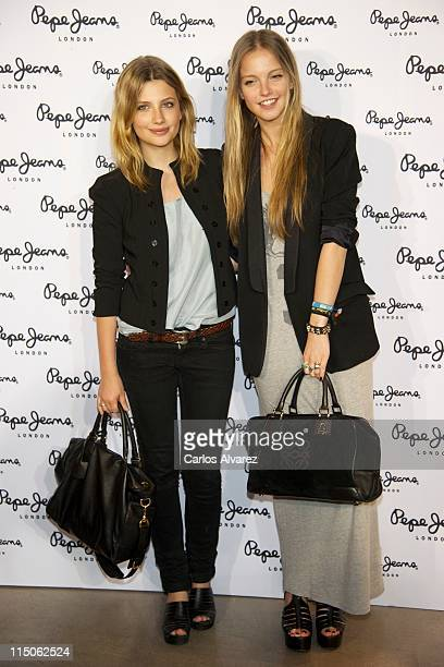 Spanish actresses Miriam Giovanelli and Laura Hayden Laura Hayden attend 'Pepe Jeans' new store opening in Madrid on June 2 2011 in Madrid Spain