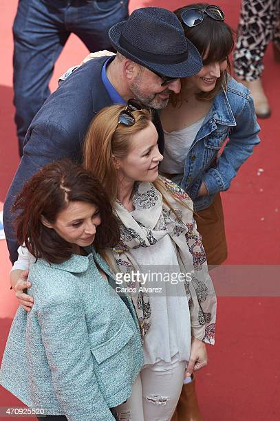 Spanish actresses Neus Asensi Maria Esteve Spanish director Alfonso Albacete and Spanish actress Natalia de Molina pose for the photografes to...