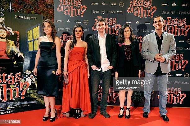 Spanish actresses Olaya Martin Miren Ibarguren actor Gorka Otxoa Spanish Culture Minister Angeles Gonzalez Sinde and director Roberto Santiago attend...