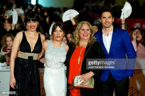 Spanish actresses Yolanda Ramos Maria Leon Carmina Barros and actor Paco Leon attend the 17th Malaga Film Festival 2014 closing ceremony at the...