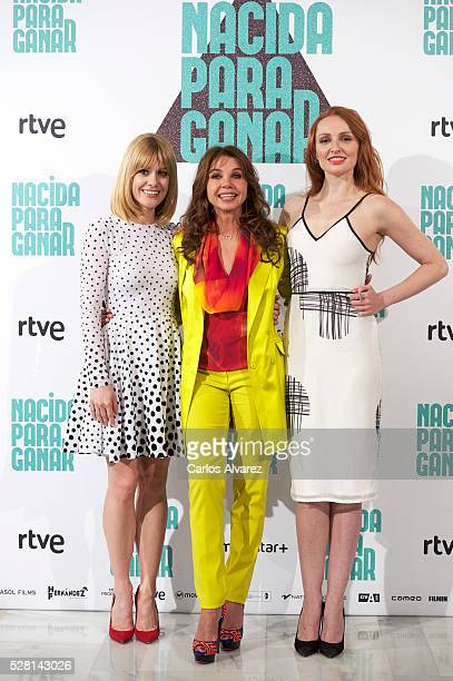 Spanish actressses Alexandra Jimenez Victoria Abril and Cristina Castano attend Nacidas Para Ganar photocall at the Eurobuilding Hotel on May 04 2016...