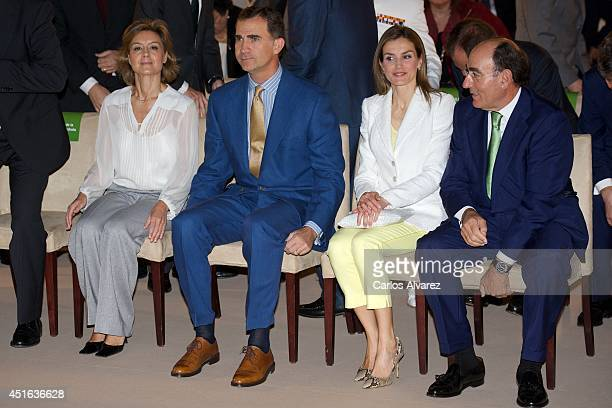 Spanish Agriculture and Environment Minister Isabel Garcia Tejerina King Felipe VI of Spain Queen Letizia of Spain and Iberdrola President Ignacio...