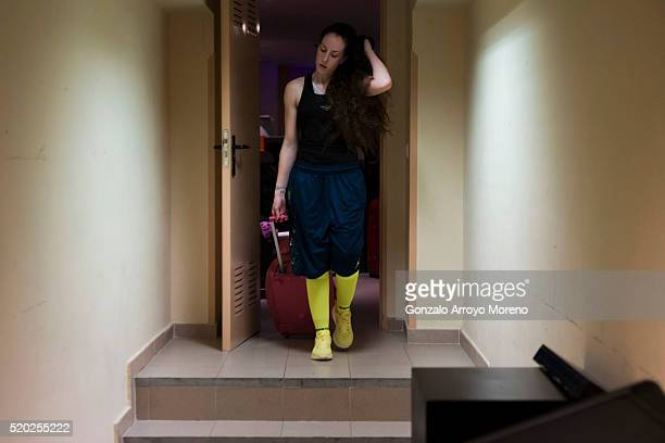 Spanish amateur champion Cristina Gomez leaves the backstage after defeating Vanesa Caruso in a 4x2 bout the night of her professional debut as a...