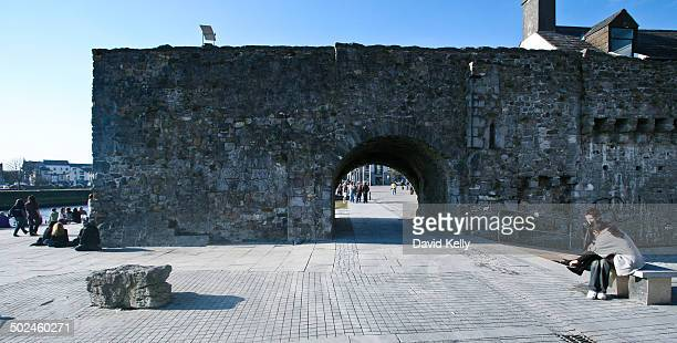Spanish Arch part of the old city wall, Galway City, Ireland.