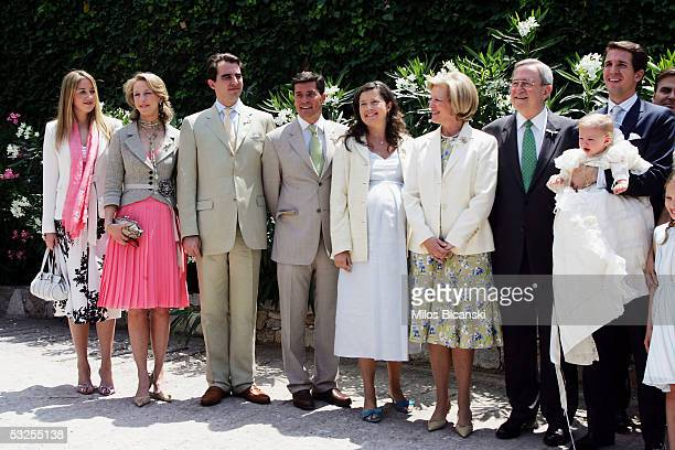 Spanish architect Carlos Morales with his wife Princess Alexia former Queen of Greece AnneMarie her husband former King Constantine Crown Prince...