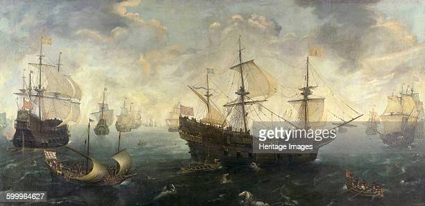 Spanish Armada Off the Coast of England ca 16201625 Found in the collection of Rijksmuseum Amsterdam Artist Wieringen Cornelis Claesz van