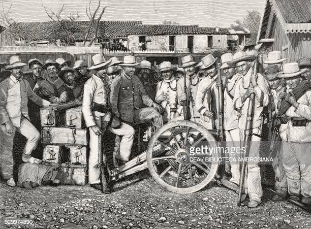 Spanish artillery section Cuban War of Independence Cuba from L'Illustrazione Italiana Year XXIII No 33 August 9 1896