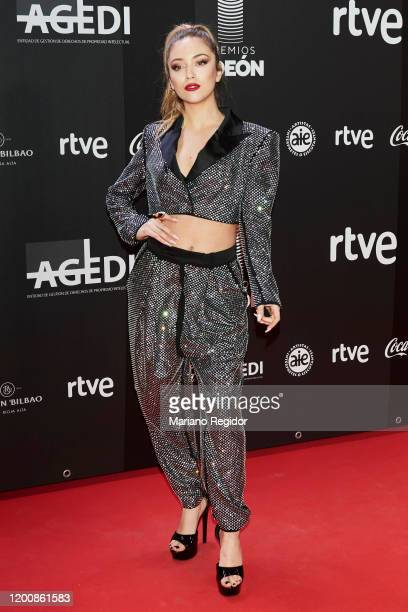 Spanish artist Ana Mena attends Odeon Awards 2020 at Royal Theater on January 20 2020 in Madrid Spain