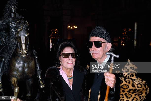 Spanish artist and painter Salvador Dali with his wife Gala in Monaco