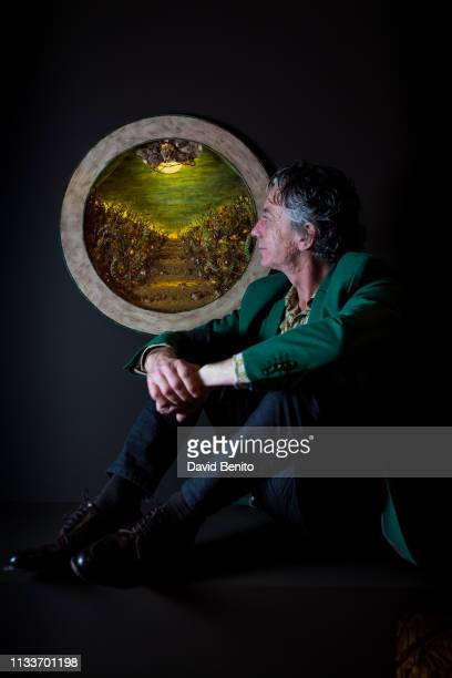 Spanish artist Carlos Díaz Bustamante poses for a portrait session on March 8 2019 in Casa de México in Madrid Spain