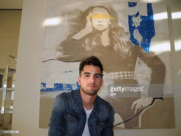 Spanish artist Javier Martin poses in Baltus Miami Design District on November 28 before unveiling his collection of 14 pieces at the 10th edition of...