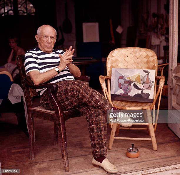 Spanish artist Pablo Picasso at his home in Cannes circa 1960