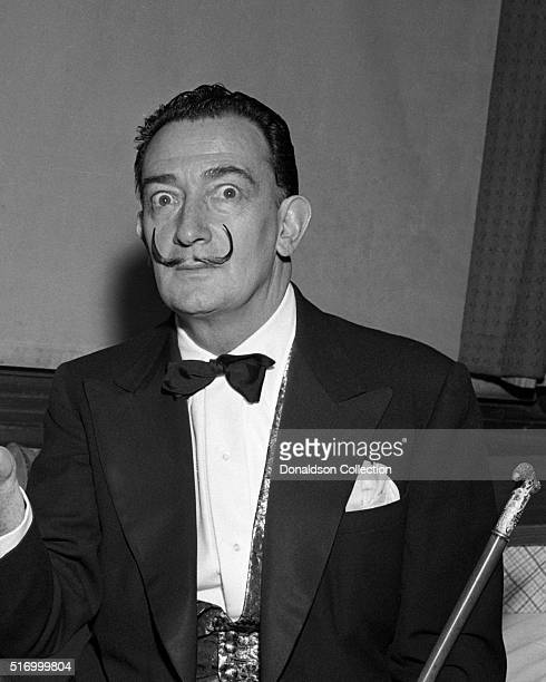 Spanish artist Salvador Dali at the Paramount theater on February 22 1957 in New York City New York