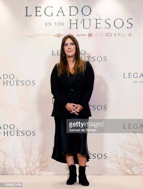 Spanish Author Dolores Redondo attends Legado En los Huesos Madrid Photocall on November 25 2019 in Madrid Spain
