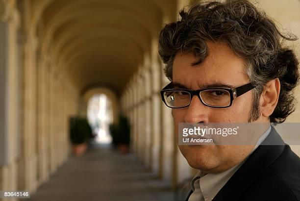 Spanish author Juan Manuel de Prada poses before a public lecture on October 11 2008 in Bordeaux France