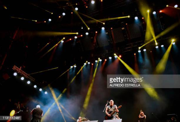 Spanish band SkaP performs during the first day of the 'Vive Latino' music festival in Mexico City on March 16 2019