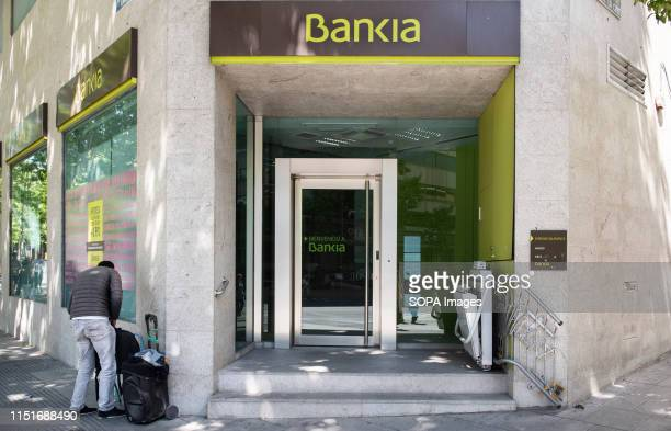 Spanish bank branch of Bankia seen in Madrid