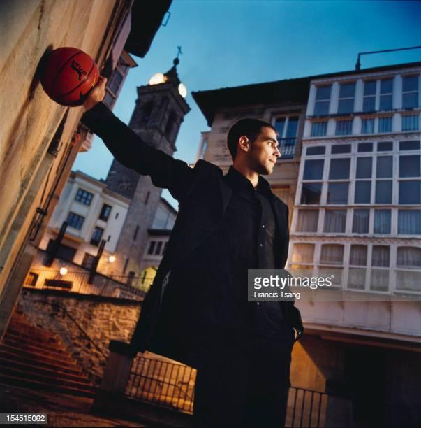 Spanish basketball player Jose Manuel Calderon at Vitoria Spain 2003