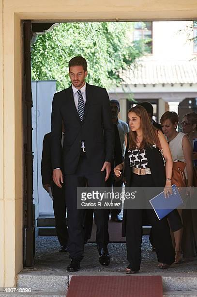 Spanish basketball player Pau Gasol attends the Camino Real award at the Alcala de Henares University on July 15 2015 in Alcala de Henares Spain
