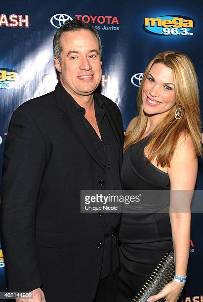 COO Spanish Broadcasting System Albert Rodriguez and guest attend the Mega 963 Calibash at Staples Center on January 24 2015 in Los Angeles California