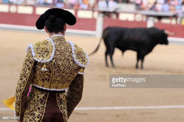Spanish bullfighter Alberto Lopez Simon fights his first bull during the San Isidro bullfighting fair in Las Ventas bullring in Madrid Spain on 15...