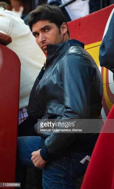Spanish bullfighter Cayetano Rivera attends a bullfight at the Plaza Valencia bullring on March 17 2011 in Valencia Spain