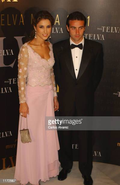 Spanish bullfighter Enrique Ponce and his wife/model Paloma Cuevas attend the Telva Magazine Fashion Awards at Hotel Palace October 30, 2001 in...