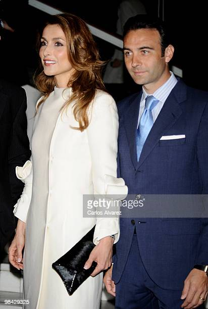 """Spanish bullfighter Enrique Ponce and wife model Paloma Cuevas attend """"Don Quijote"""" journalism awards at Casa de America on April 13, 2010 in Madrid,..."""