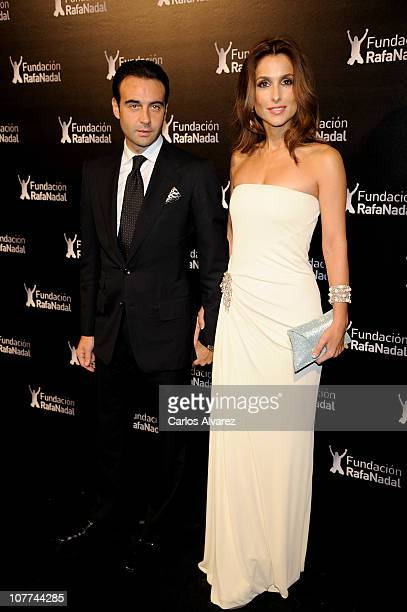 """Spanish bullfighter Enrique Ponce and wife/model Paloma Cuevas attend """"Rafa Nadal Foundation"""" Charity Gala at Cibeles Palace on December 22, 2010 in..."""